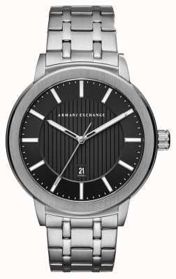 Armani Exchange Relógio de aço inoxidável para homem AX1455