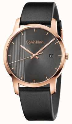 Calvin Klein | relógio de cidade de couro preto dos homens | K2G2G6C3