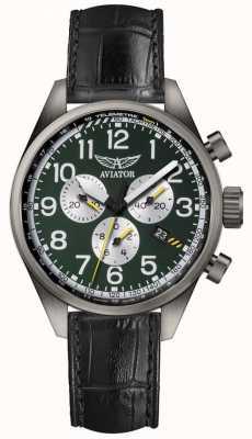 Aviator Mens airacobra p45 relógio cronógrafo V.2.25.7.171.4