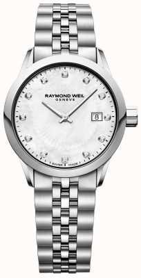 Raymond Weil Mãe freelancer para senhora de marcação pérola 5629-ST-97081