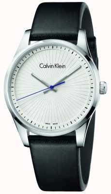 Calvin Klein Unisex firme relógio couro preto K8S211C6