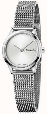 Calvin Klein Womans relógio mínimo mostrador prateado K3M231Y6