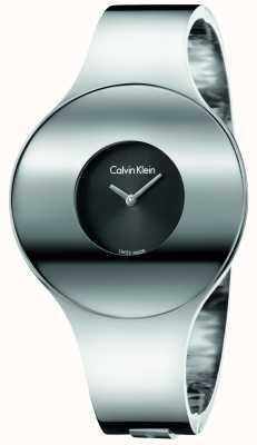Calvin Klein Meio de relógio sem costura de aço de prata da mulher K8C2M111