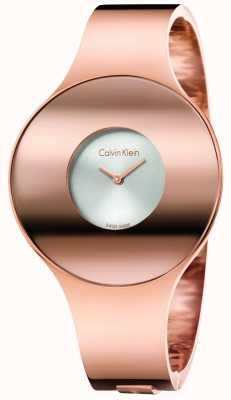 Calvin Klein Womans subiu tom de ouro sem costura assistir pequeno K8C2S616