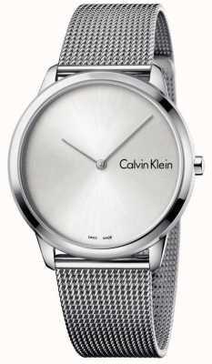 Calvin Klein Womans relógio mínimo mostrador prateado K3M211Y6