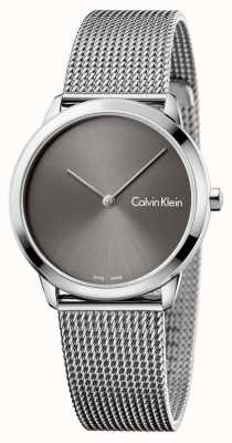Calvin Klein Womans relógio mínimo mostrador cinza K3M221Y3