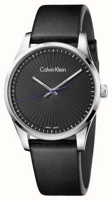 Calvin Klein Mens firme relógio preto K8S211C1