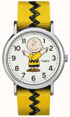 Timex Weekender charlie brown amendoim cinta amarela TW2R411006B