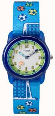 Timex Juventude analógica blue strap futebol TW7C165004E