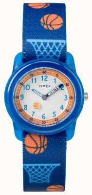 Timex Juventude análogo azul cinta basquete TW7C168004E