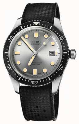Oris Mens mergulhadores sessenta e cinco relógios pulseira de borracha 01 733 7720 4051-07 4 21 18