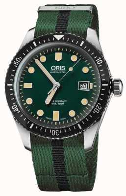 Oris Mens mergulhadores sessenta e cinco cinta verde da OTAN 01 733 7720 4057-07 5 21 25FC