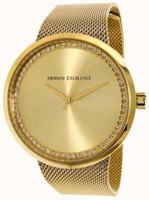 Armani Exchange Mulher liv de aço inoxidável AX4502
