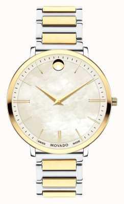 Movado Relógio ultra slim de duas cores para mulher 0607171