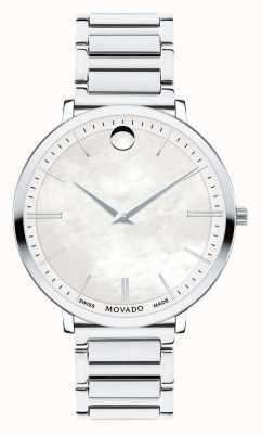 Movado Relógio de aço inoxidável ultra fino para mulher 0607170