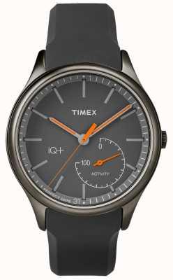 Timex Mens iq plus move pulseira de silicone cinza TW2P95000