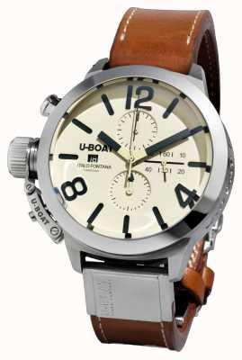 U-Boat Classico 50 tungsteno cas2 / a pulseira de couro marrom automático 7433/A
