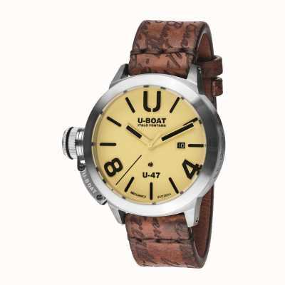 U-Boat Bracelete automático de pele castanha Classico 47 as2 8106