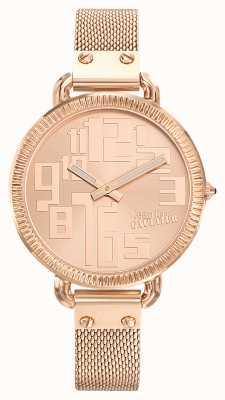 Jean Paul Gaultier Índice das mulheres subiu ouro pvd malha rosa ouro dial JP8504308