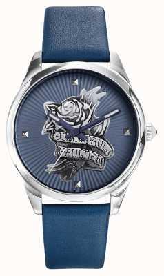 Jean Paul Gaultier Pulseira de couro azul marinho tatoo azul JP8502413