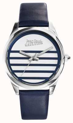 Jean Paul Gaultier Mostrador branco pulseira de couro azul marinho JP8502409