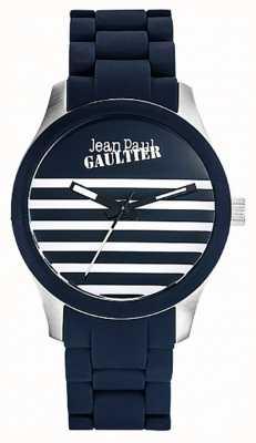Jean Paul Gaultier Enfants terribles pulseira de aço azul de borracha pulseira azul JP8501118