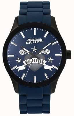 Jean Paul Gaultier Enfants terribles pulseira de aço azul de borracha pulseira azul JP8501124