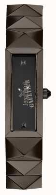 Jean Paul Gaultier Mini pulseira punk de metal das mulheres pulseira de discagem preta JP8504003