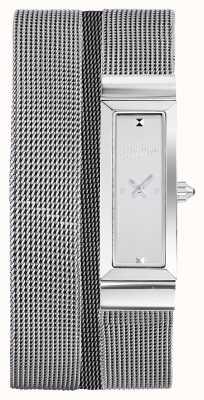 Jean Paul Gaultier Pulseira de malha de aço inoxidável com cote de maille JP8503901