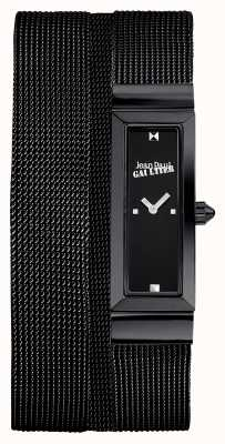 Jean Paul Gaultier Womens cote de maille pulseira preta malha pvd pulseira preta JP8503905