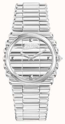 Jean Paul Gaultier Mostrador prata pulseira de aço inoxidável womens bord cote JP8504101