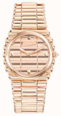 Jean Paul Gaultier Womens bord cote subiu pulseira de ouro pvd discagem rosa de ouro JP8504106