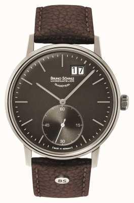 Bruno Sohnle Relógio de couro marrom Stuttgart ii 42mm 17-13179-841