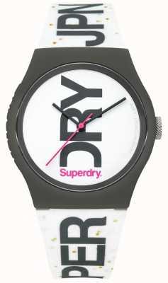 Superdry Relógio de silicone branco unisex SYL189WB