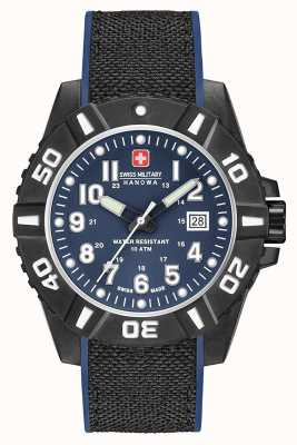 Swiss Military Hanowa Bracelete Mens black carbon matt blue 06-4309.17.003SM