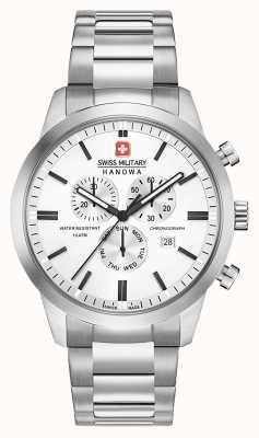 Swiss Military Hanowa Dial de aço inoxidável clássico mens chrono 06-5308.04.001