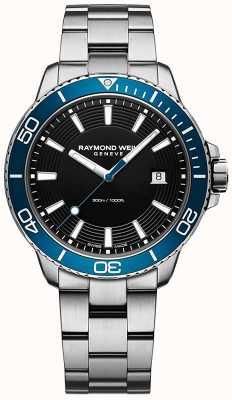 Raymond Weil Relógio Tango em aço inoxidável com moldura azul 8260-ST3-20001