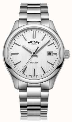 Rotary Mens oxford relógio pulseira de aço inoxidável GB05092/02