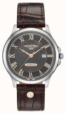 Roamer Alça de couro marrom windsor Mens 706856410207