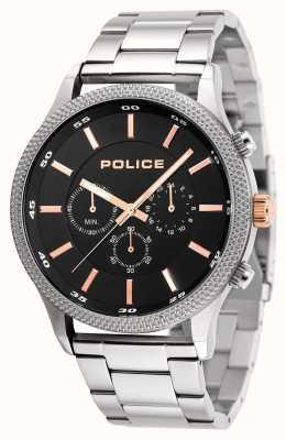 Police Mens pulseira de aço inoxidável ritmo pulseira preta 15002JS/02M