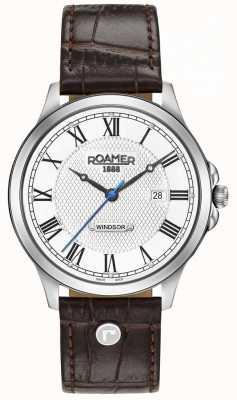 Roamer Alça de couro marrom windsor Mens 706856411207