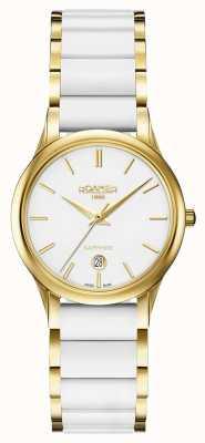 Roamer Caso de relógio de cerâmica de cerâmica branca c-linha das mulheres 657844482560