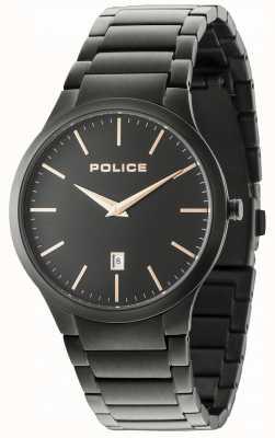 Police Mostrador preto pulseira horizonte preto 15246JSB/02M