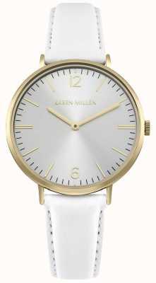 Karen Millen Mostrador branco com pulseira de couro branco KM163WG