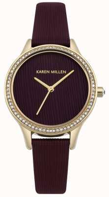 Karen Millen Seletor texturizado de couro de amoreira KM165VG