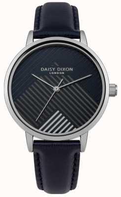 Daisy Dixon Pulseira azul com mostrador listrado matte DD056US