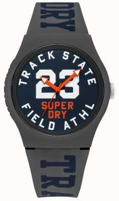 Superdry Mostrador de faixa de estado de impressão faixa azul cinza SYG182UE