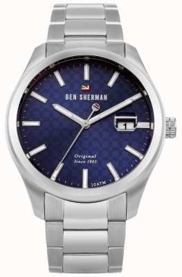 Ben Sherman O ronnie profissional pulseira de aço inoxidável mostrador azul WBS109BSM