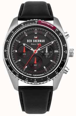 Ben Sherman O ronnie cronógrafo sunray discar vermelho destaques WBS108RB