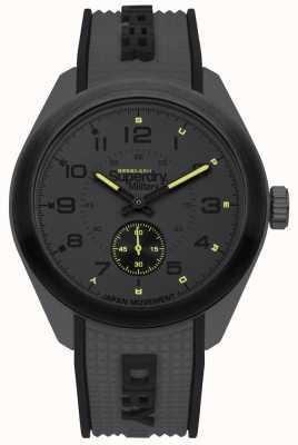 Superdry Navigator militar preto e cinza dois tom pulseira de borracha SYG214E